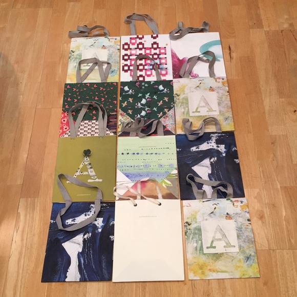 Dozen Anthropologie shopping bags 🛍